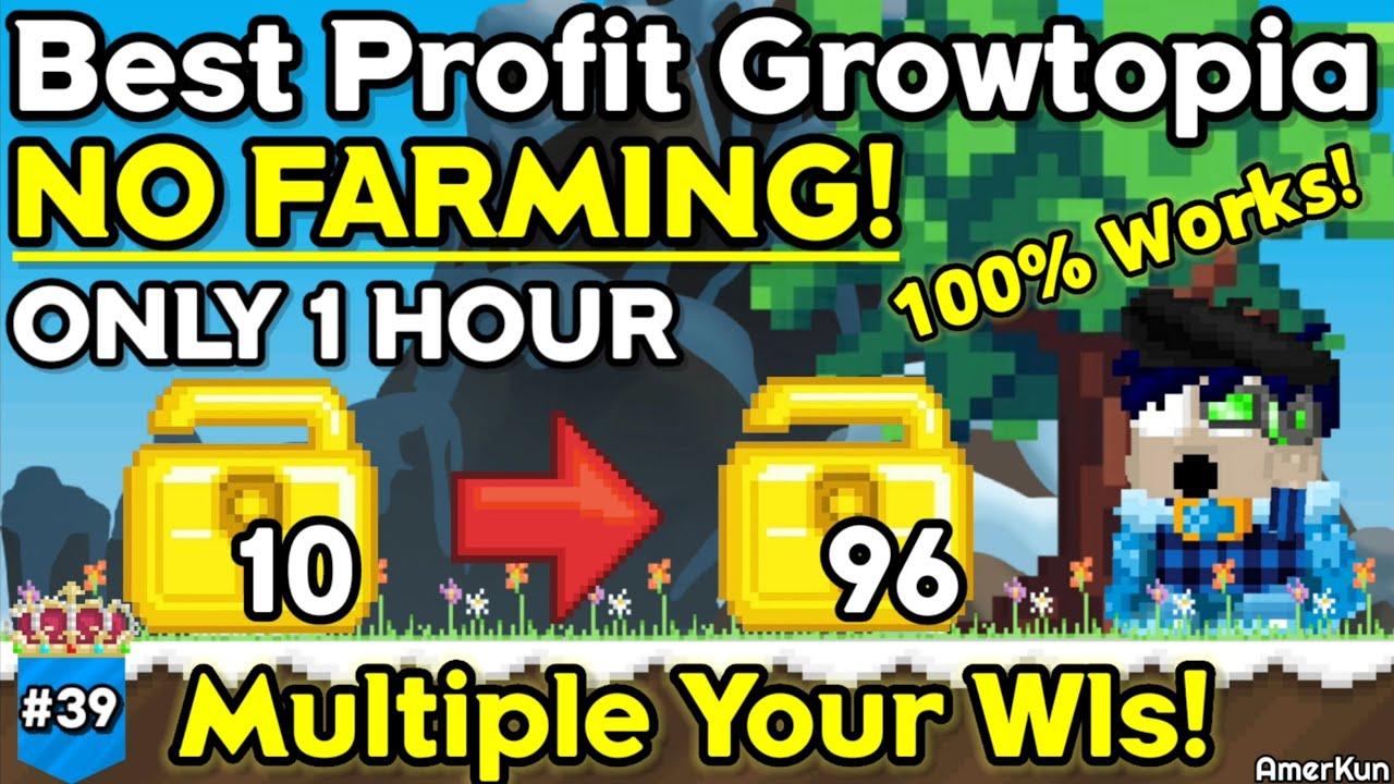 Best Profit In Growtopia 2021 No Farming 100 Works Growtopia Profit 39 Growtopia Youtube