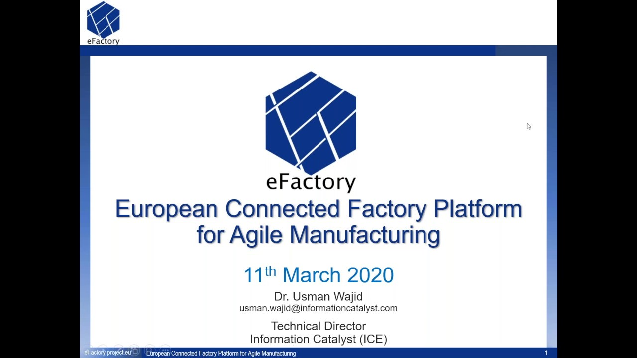 eFactory - Overview and Technology Offerings