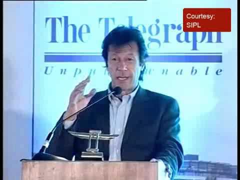 Imran Khan  delivers the inaugural Tiger Pataudi Memorial Lecture