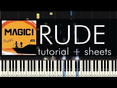"""How to Play """"Rude"""" by Magic! - Piano Cover and Tutorial"""