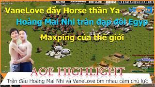 AOE Hightlight    VaneLove và Hoàng Mai Nhi ôm nhau đẩy quân đời 4 vô địch thế giới