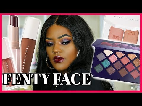 Full Face of FENTY BEAUTY Makeup! Foundation, Highlighter, lip gloss ... thumbnail