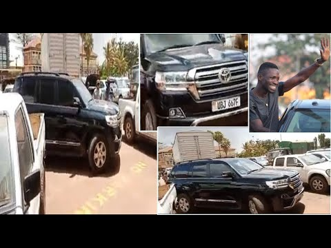 Bobi wine`s Bullet proof car at URA offices for re-evaluation
