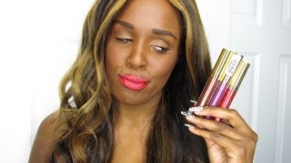new milani amore matte metallic lip cremes limited edition   full lip swatches 1st impression