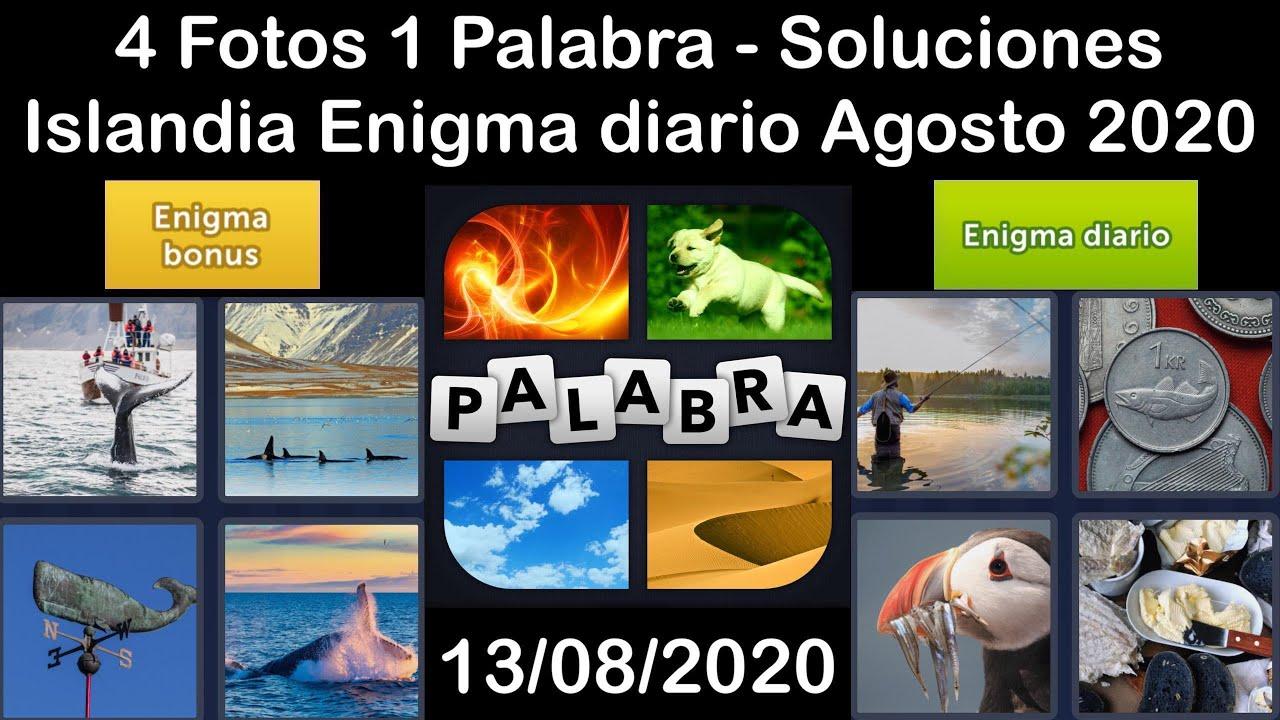4 Fotos 1 Palabra - Islandia - 13/08/2020 - Agosto 2020 - Enigma diario + Enigma bonus - Solucion