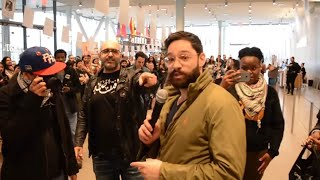 Aggressive Free Palestine Protesters try to Intimidate Journalist at Whitney Museum