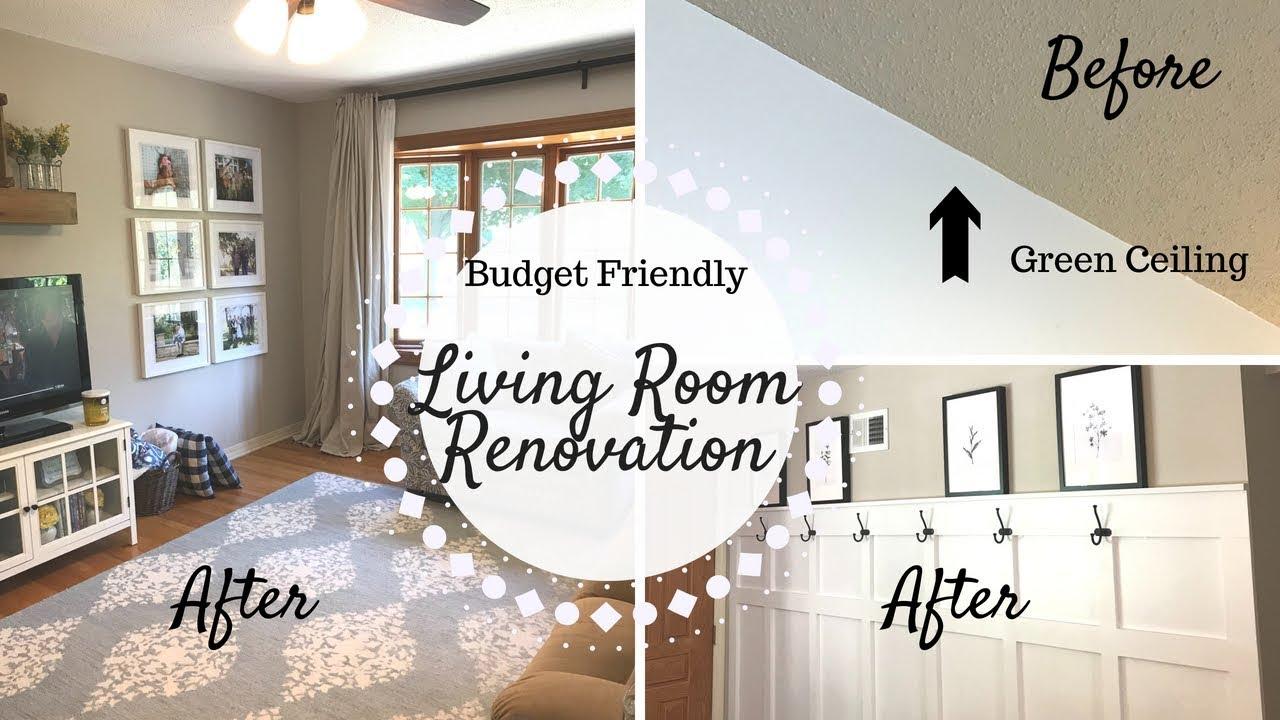 Living Room Transformation Home Renovation On A Budget