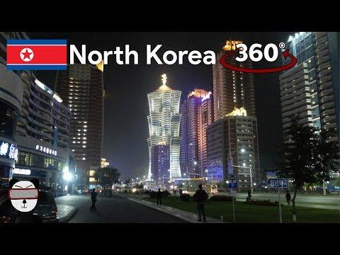360° Inside North Korea: Pyongyang Night Time Lapse | Pyongyang, North Korea