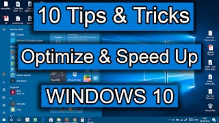 [10 Tips & Tricks] - How to speed Up Windows 10   Increased Performance   Best Settings