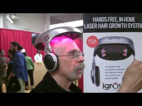 No, it's not Google Hat, I'm wearing the iGrow Laser