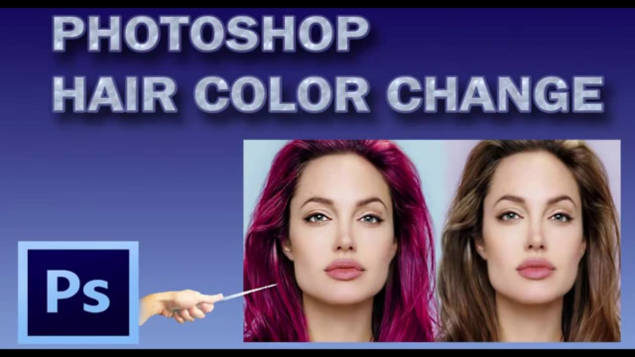 How To Change Hair Color In Photoshop Of Hair Color Change In