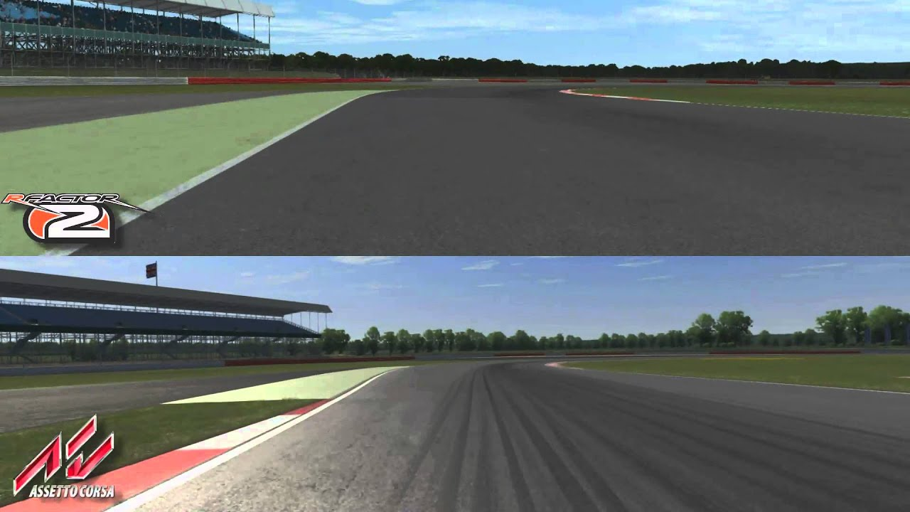 rFactor 2 vs Assetto Corsa @ Silverstone Circuit - YouTube
