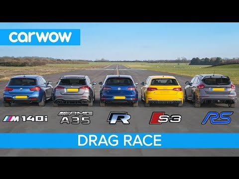 VIDÉO - Audi S3 vs VW Golf R vs A 35 AMG vs M140i vs Focus RS
