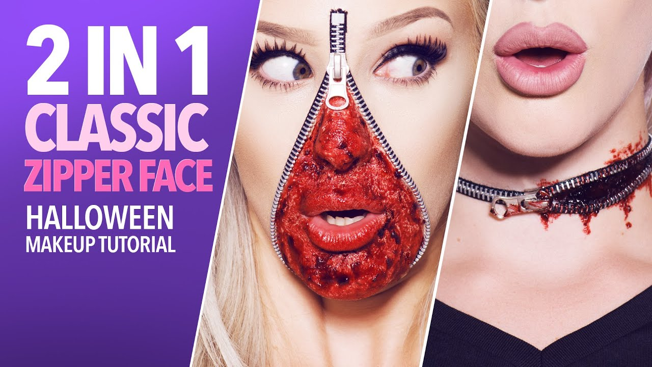 Classic zipper face makeup tutorial (with kit) - YouTube