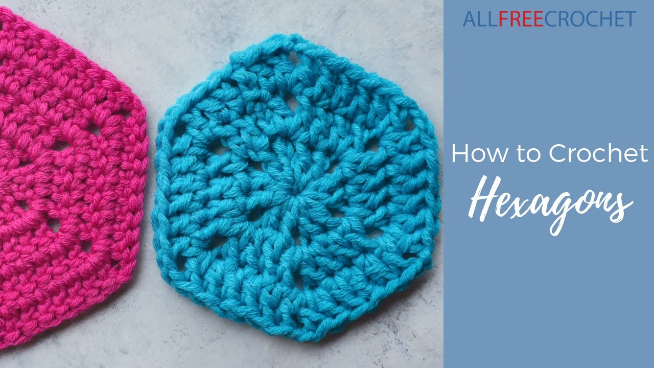 How To Crochet A Hexagon Granny Square Youtube