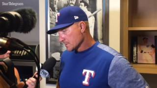 Jeff Banister talks offense, Matt Bush after Rangers win Sunday