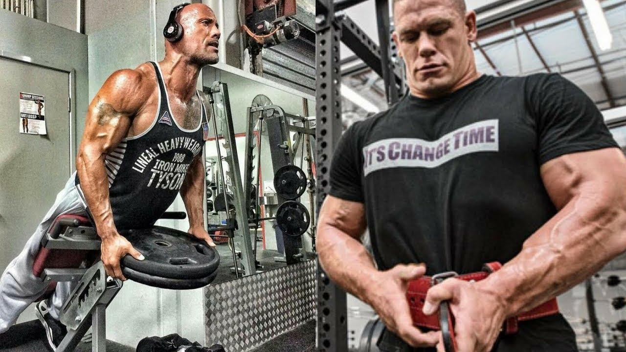 John Cena Vs Dwayne Johnson The Rock Intense Workout Motivational