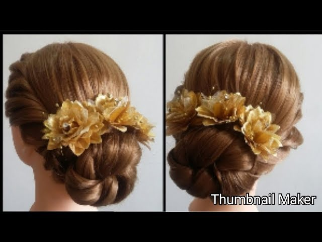 Bridal bun     updo hairstyle tutorial    ???? ??????????   