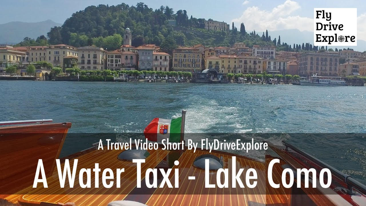A Water Taxi Ride From Bellagio  On Lake Como, Italy