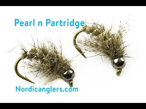 Fly Tying instruction on how to tie the caddis nymph: Pearl n Partridge