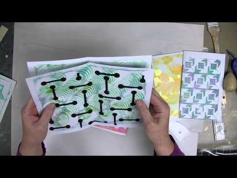 CPS -- Gelli JumpStart Journal Demo -- Part 3 -- Signatures & Spine - Patti Tolley Parrish