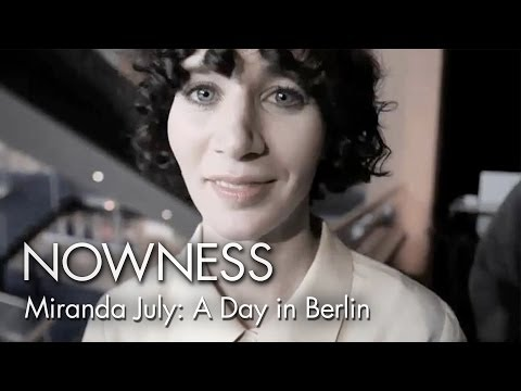 "Wim Wenders and Miranda July in ""A Day In Berlin"" by Carlo Lavagna and Roberto de Paolis"