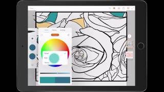 Adobe Draw Tutorial - Rose Illustration