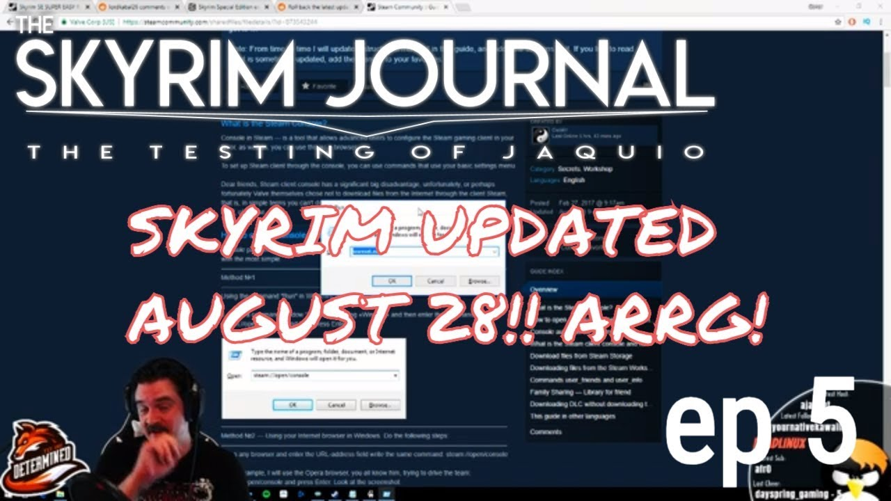 SKYRIM UPDATED! SKSE64 BROKE! EVERYTHING goes WRONG - Skyrim Journal Ep 5