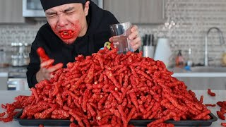 10,000 Calorie FLAMIN' HOT CHEETOS Challenge!!!