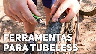 Como usar ferramentas para reparo de pneus com Tubeless   Facilitando a vida no pedal thumbnail
