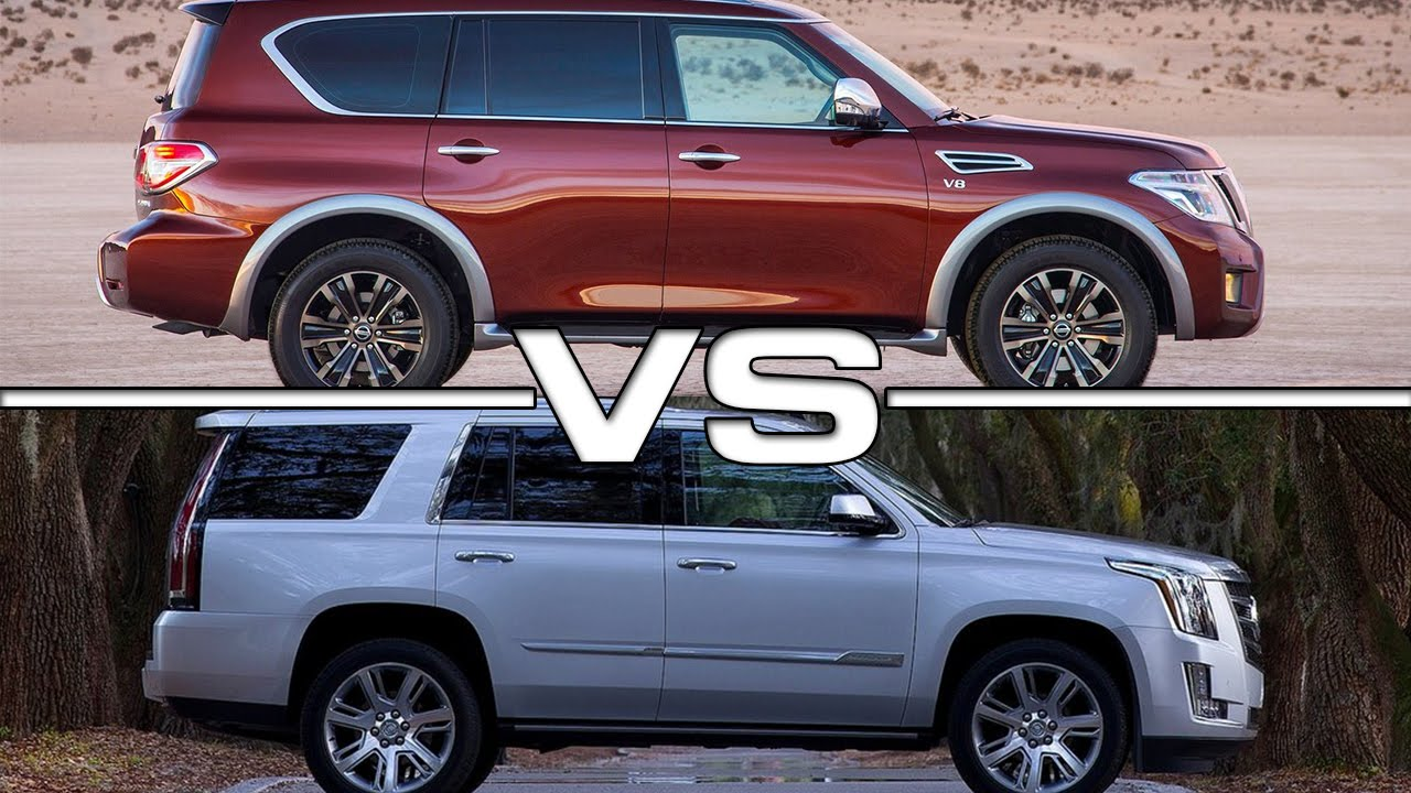 Nissan Armada Vs Cadillac Escalade Youtube