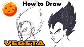 easy vegeta draw drawings