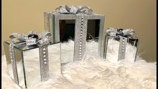 Dollar Tree DIY || 💕 Decorative Mirrored Gift Boxes 💕
