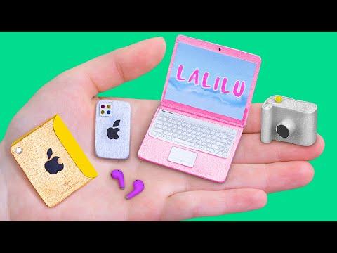 Миниатюрные гаджеты для Барби / 10 лайфхаков и поделок для Барби