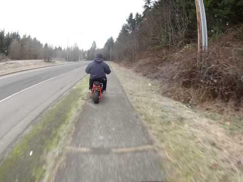 Riding Mini bikes to the gas station - Gopro