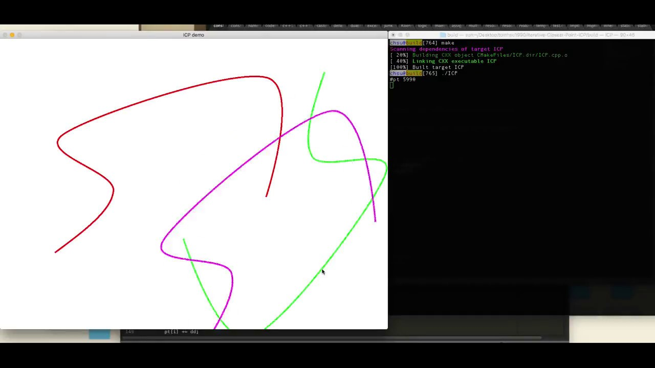 2D Iterative Closest Point ICP Demo