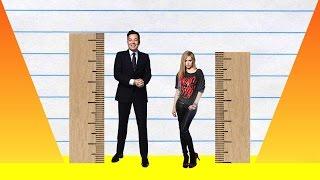 Video How Much Taller? - Jimmy Fallon vs Avril Lavigne! download MP3, 3GP, MP4, WEBM, AVI, FLV Agustus 2018