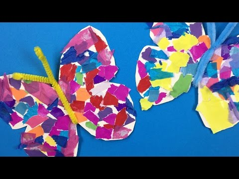 How to make a paper butterfly  - simple paper crafts for kids