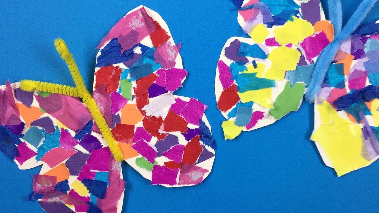How to make a paper butterfly - fun arts and crafts project for kids