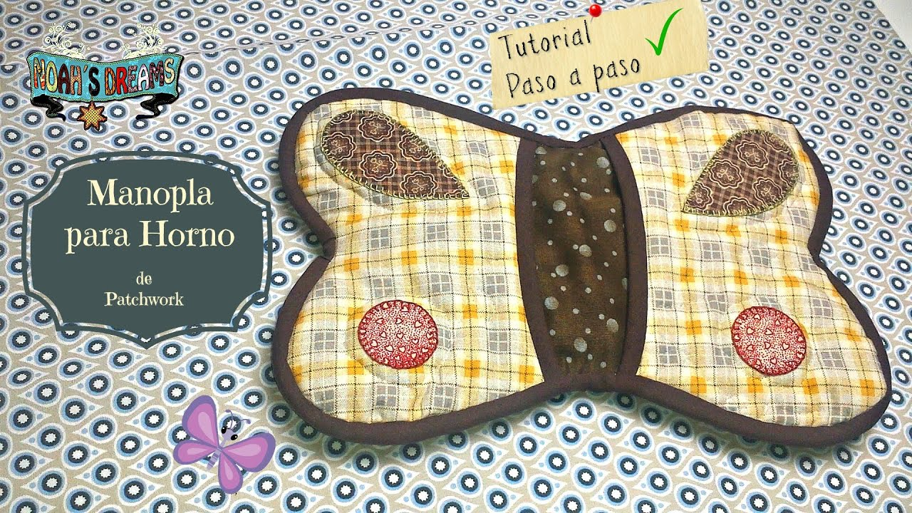 C mo hacer manopla de cocina patchwork tutorial pot holder tutorial patchwrok youtube - Patchwork para cocina ...