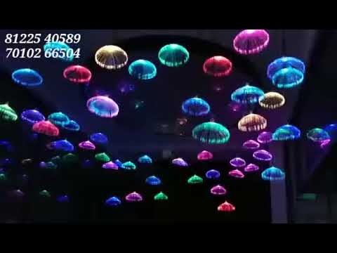 3D Jellyfish false Ceiling LED Lighting Design Indoor Interior Decor India +91 8122540589(WA)