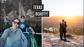 Weekend at Garner State Park in Texas: Kayaking the Frio River + hiking up Old Baldy!