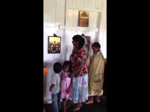 Chanting at Greek Orthodox Sacred Mission Center, Fiji - Part 3