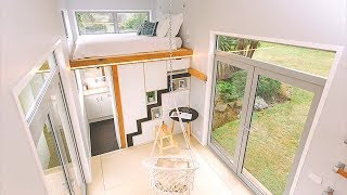 Modern Tiny House 17.2sqm With Sliding Stairs And Office Loft