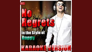 No Regrets (In the Style of Dappy) (Karaoke Version)