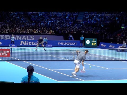 Roger Federer Vs Dominic Thiem - Nitto ATP Finals London 2019 - Court Level Match Highlights