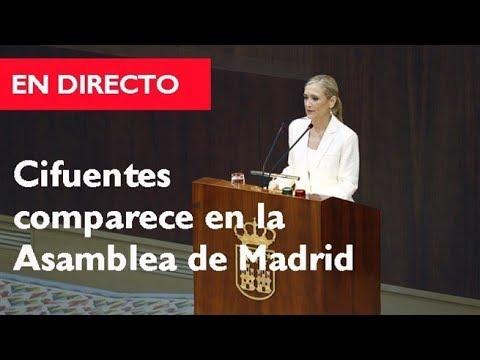 Cristina Cifuentes comparece en la Asamblea de Madrid por el Máster