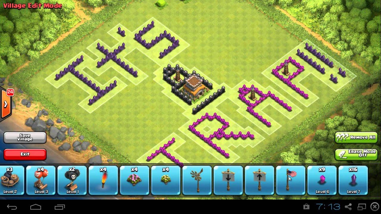 Coc th8 base design - Clash Of Clans Fun Pixel Art Th8 Base Design It S A Trap
