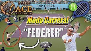Full Ace Tennis Simulator - Pruebo el Modo CARRERA! (PC/4k)