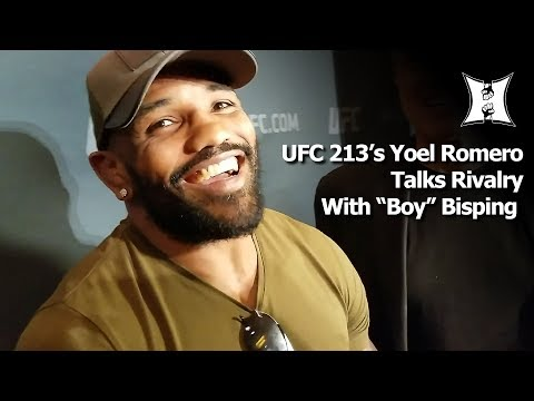 "UFC 213's Yoel Romero Talks Rivalry With Champ Michael Bisping; Laughs + Calls Him ""Boy"""